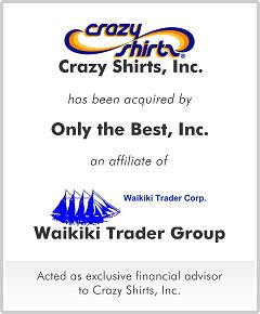 Crazy Shirts, Inc.